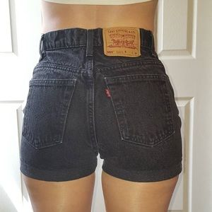 Black 550 High Waisted Shorts